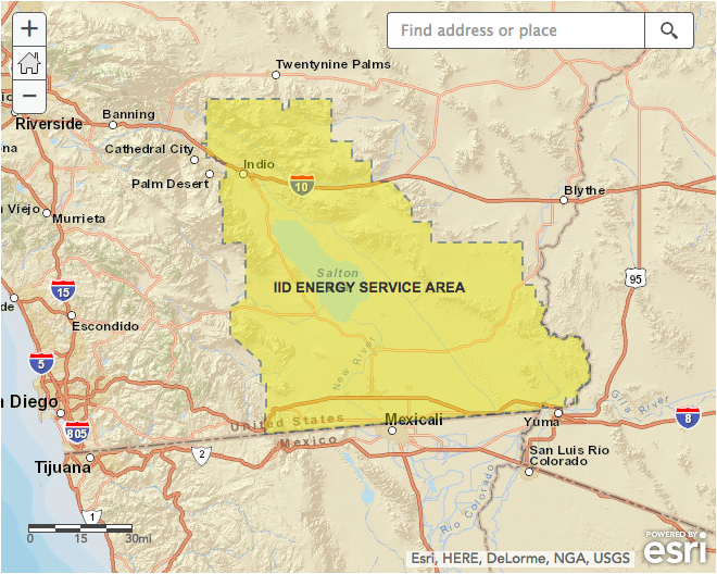 Power Outage Maps On Twitter The Iid Iidatwork Service Area Map