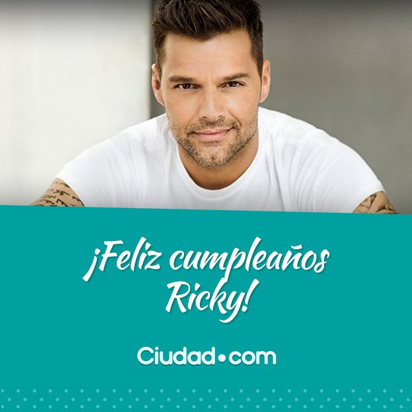 Cumpleanos Feliz Ricky Martin.Ciudad Magazine Ar Twitter Feliz Cumpleanos Ricky Es El