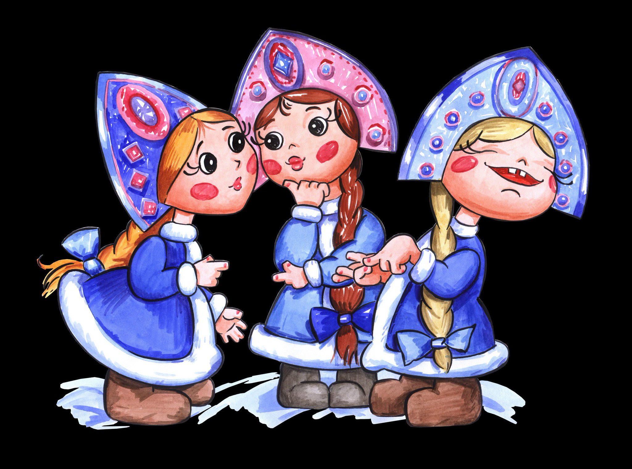 Прикольные картинки три девицы, лабиринт открытки сделать