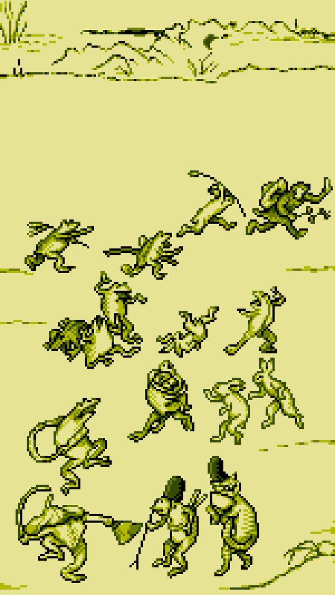 緑 W 箱 En Twitter 鳥獣戯画 Iphone6 と 5向け ロック画面壁紙画像 二枚をまとめました ドット絵 Edgetouch T Co Pjivmeh0au
