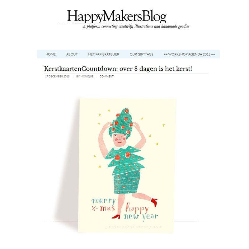 Two of my  christmas cards in the #kerstkaartencountdown van @HappyMakersBlog today!  Thanks!