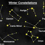 Image for the Tweet beginning: Winter Constellations