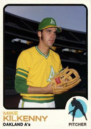 Image result for 1973 topps oakland