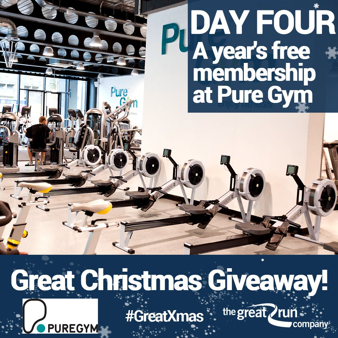 Today's #GreatXmas giveaway prize is a YEAR'S free membership @PureGym For more info visit https://t.co/h7CKY9LCzc https://t.co/4ZGKCesjQG