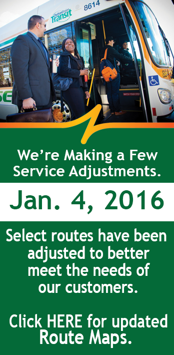 On Mon., Jan. 4, select routes are changing. Be sure to check your schedule. Details https://t.co/0uTZClAy6y https://t.co/KRanH4B66d