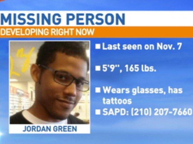 Jordan Green Nov : MISSING Jordan Green missing Nov SAPD News