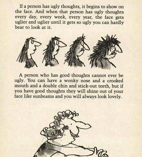 Roald Dahl about ugly thoughts. :) https://t.co/8d2mwsdwus