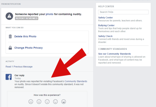 Facbook violation? Well, they tried.