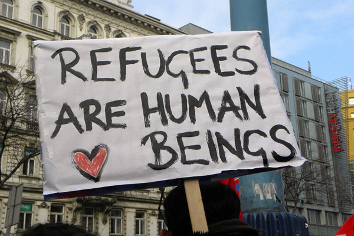 Refugees are human beings Because ##RefugeeLifeMatters https://t.co/KOs343P31J