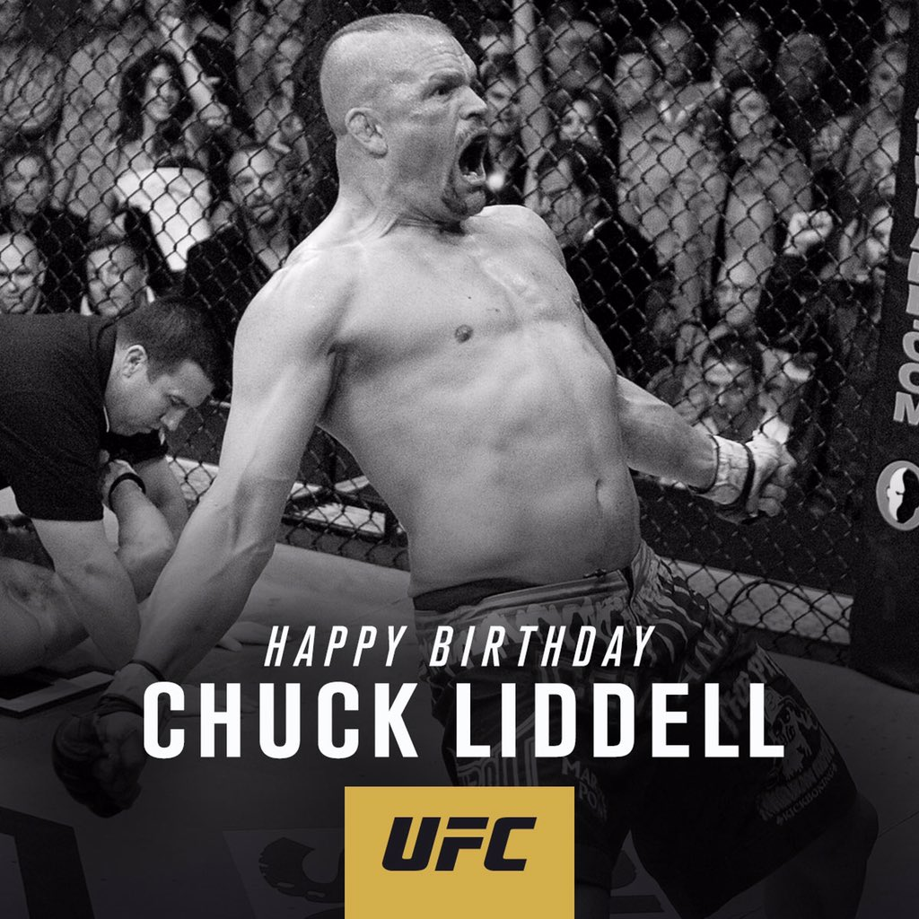 Happy Birthday to UFC legend 'The Iceman' @ChuckLiddell!! Let's see your best #UFCIceman pose 💪