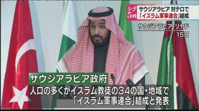 サウジアラビア、動く。[サウジアラビアなどが「イスラム軍事連合」結成]