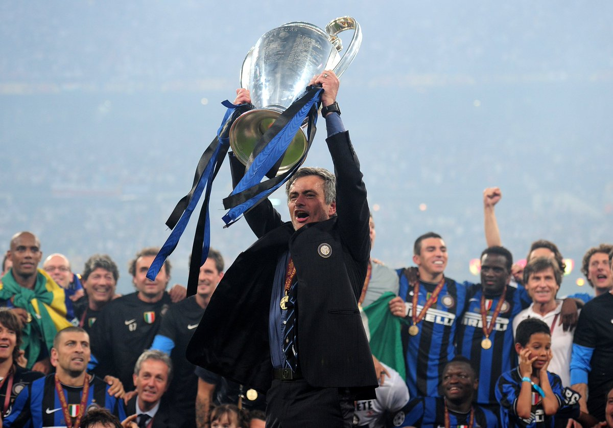Two #UCL triumphs and @ChelseaFC's most successful manager. Mourinho's career in photos - http://uefa.to/1lTzbx6