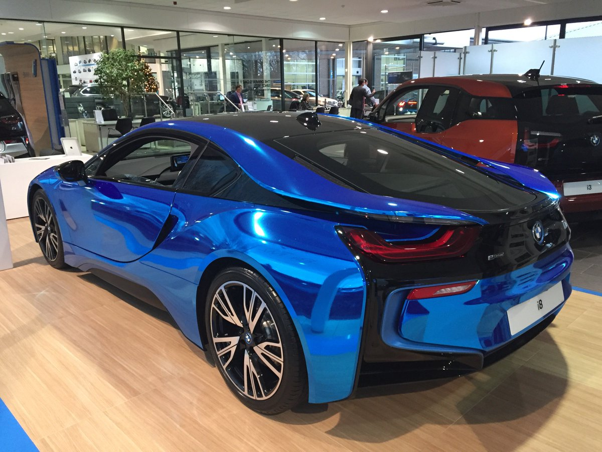 Dick Lovett On Twitter A Unique Blue Chrome Wrapped Bmw I8 Has