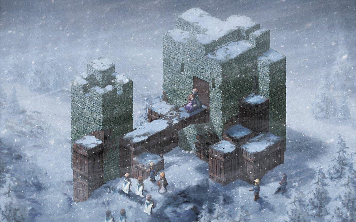 Isometric snowy drama today! #finalfantasytactics 50 prints: https://t.co/k2FJWQolQV walls: https://t.co/j5dyhvkcHZ https://t.co/9oVer6NZd3
