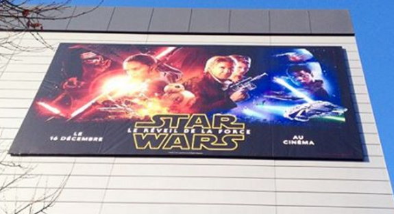 The force is strong w/ @RemarqSA – impressive @EFIPrint #VUTEk print for upcoming #StarWars film #TheForceAwakens https://t.co/6lF1Vno98d