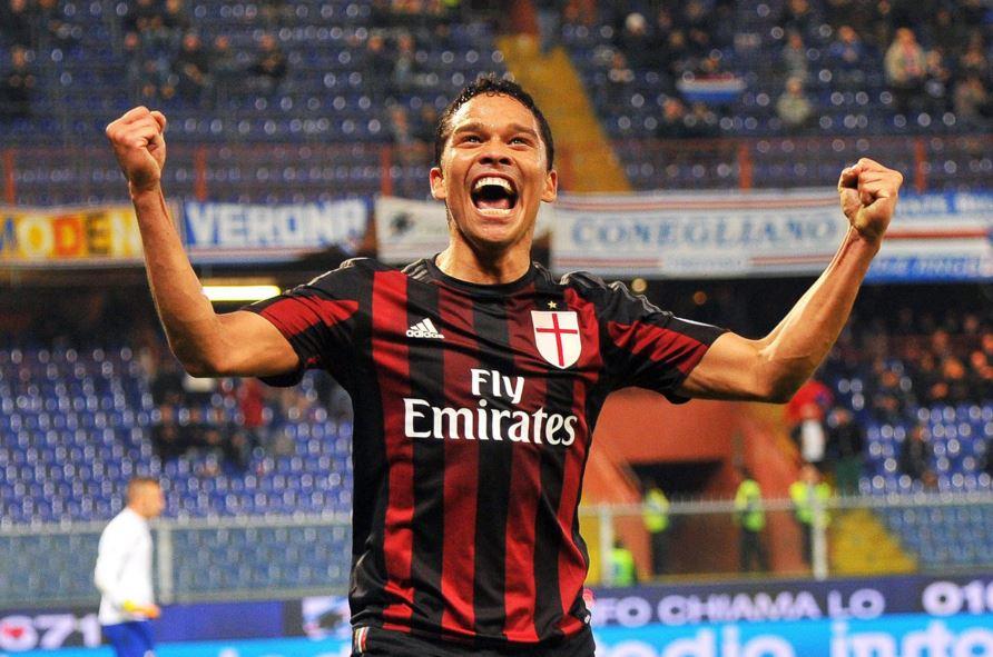 Il colombiano Bacca segna il 2-0 contro la Sampdoria in Coppa Italia
