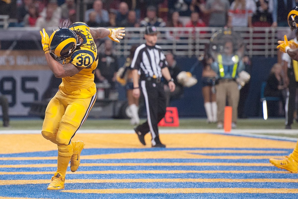 Todd gurley becomes 3rd nfl player to rush for 1 0eb8ab063
