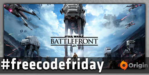 Star Wars Battlefront is in #freecodefriday for The Force Awakens.  FOLLOW & RT by 11:30 AEST to enter to win. https://t.co/s3UchooZJP