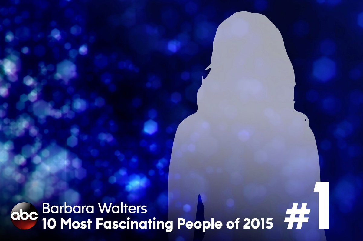 Who will be @BarbaraJWalters #mostfascinating person of 2015? Find out next!! https://t.co/TdgioznVrU