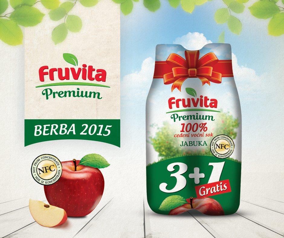 Fruvita Premium NFC 100% jabuka, berba 2015., u promo pakovanju. Probajte i garantujemo uživanje! https://t.co/ELmCk2jQfW