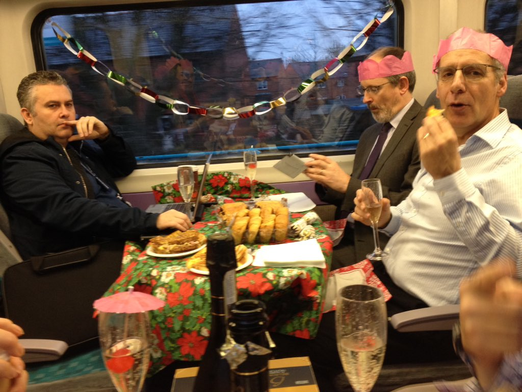 Commuters Host Epic Christmas Party On The Train To Work