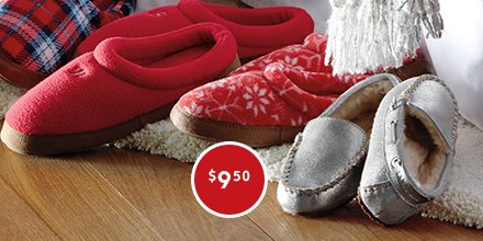 For Day 9's St. Nick's Pick, get cozy Fleece Slippers for only $9.50!: https://t.co/9Dr6Yy0sDM #LandsEndHoliday https://t.co/9G4eeZx7kX