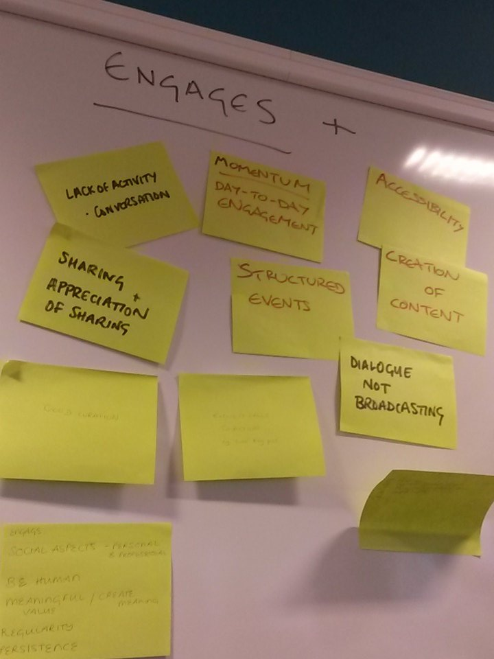 Some of the things that make people engage and stay engaged in social media/communities #SocMedHE15 https://t.co/QparBTyEeC