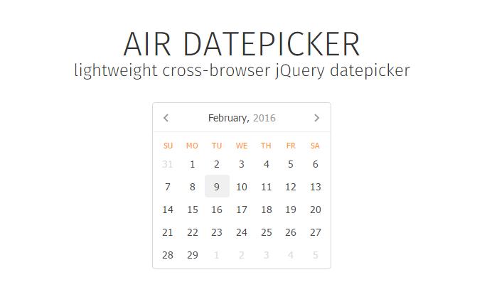 Datepicker - Twitter Search