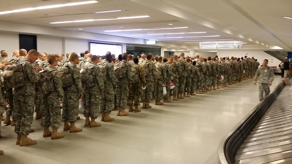 Welcome to Charlotte Troops! Enjoy your time at the Airport and your Holidays!   Thank you for your service! https://t.co/XRw06bdfxC