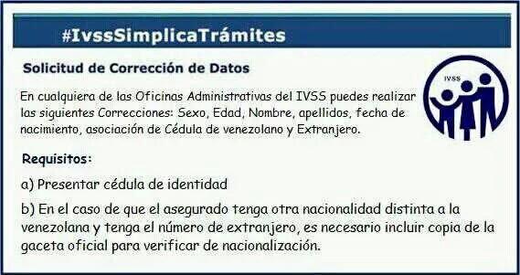 ¿Quieres corregir un dato en tu cuenta individual del IVSS ? te indicamos los pasos