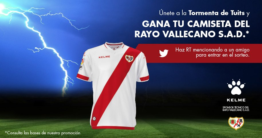 ¡Sigue la #Tormenta! Sorteamos 2 camisetas del @RVMOficial ¡Haz RT y mención! +info: https://t.co/gpCVBkgSpS  #kelme https://t.co/Shhdx95nnn