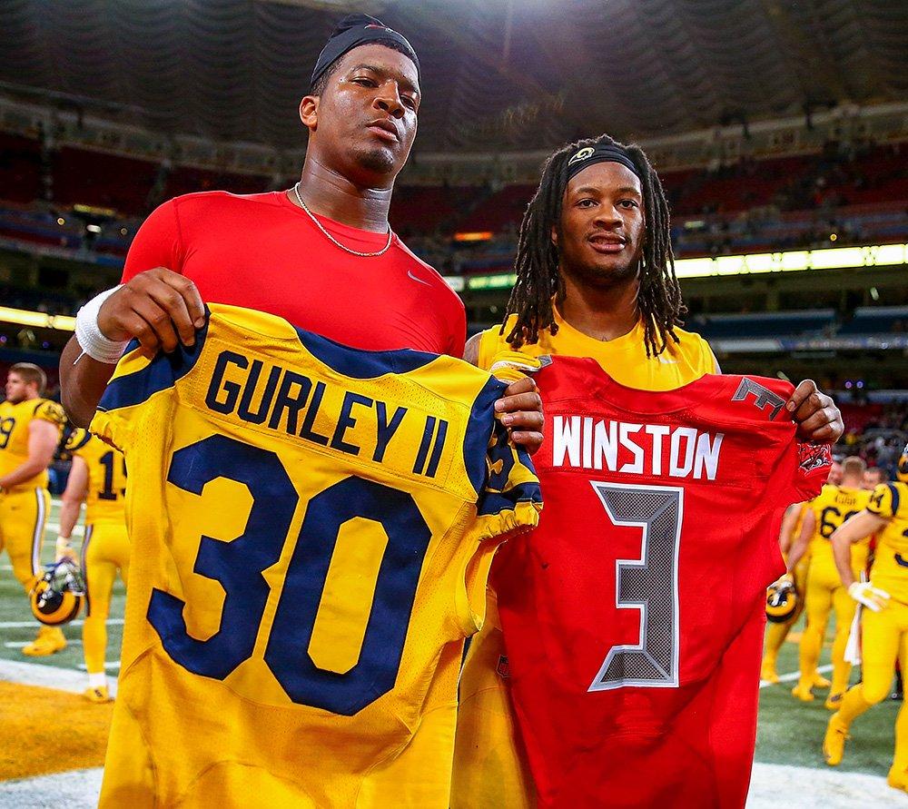 timeless design fc749 cc0b8 LOVE NFL ColorRush jerseys Rams Todd Gurley Jameis Winston ...