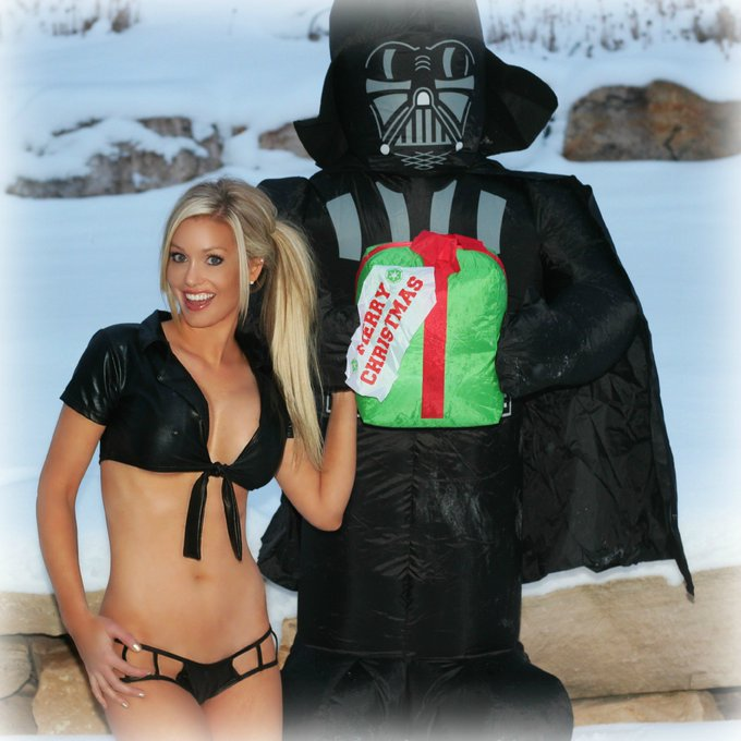 So I met this guy at a bar. He's really nice! #FriskyFriday @PlayboyPlus #12SexyDaysOfChristmas #StarWars