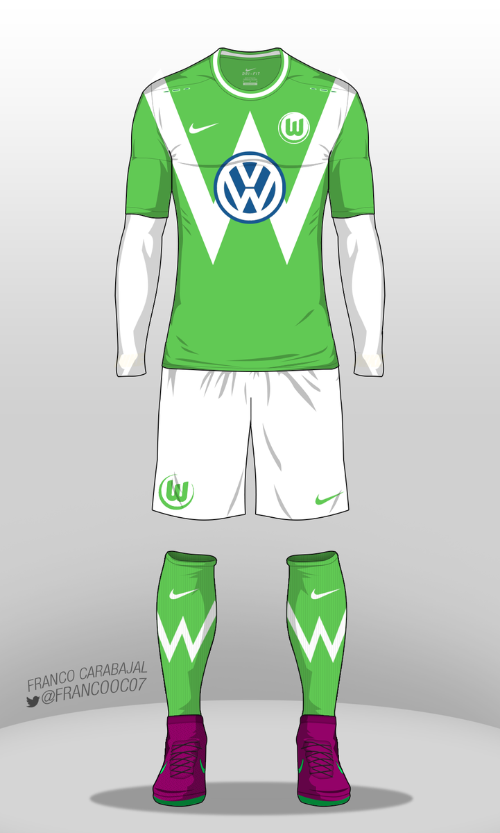 "nike shox certifié af - Franco Carabajal on Twitter: ""Vfl Wolfsburg Kit #Nike #wolfsburg ..."