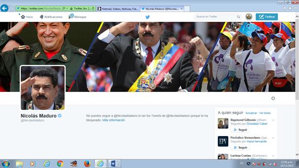 Si dudaban de que @NicolasMaduro o las personas que manejan su cuenta me bloquearon aquí está lo que digo. https://t.co/bpJnmnXA9d
