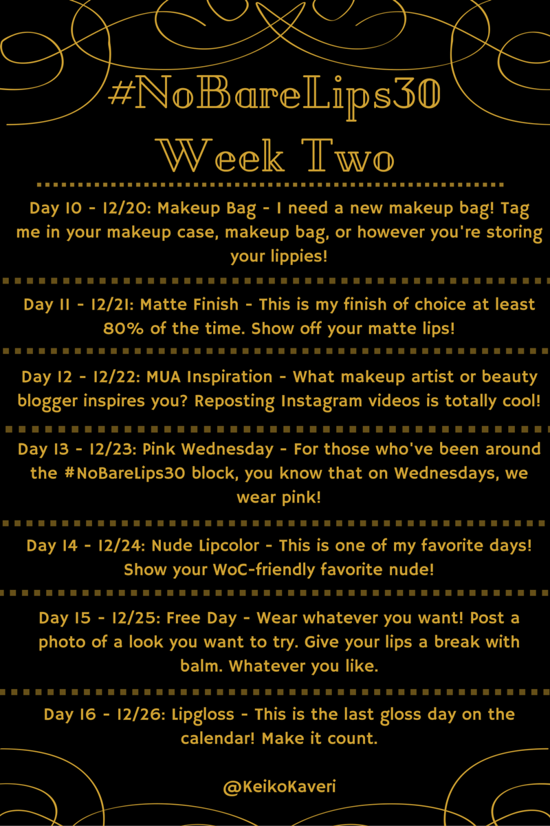 It's 1pm which means that it's #NoBareLips30 o'clock! https://t.co/RagoF8jF74 Tag a friend in the weekly calendar! https://t.co/V5nJeWPeyP