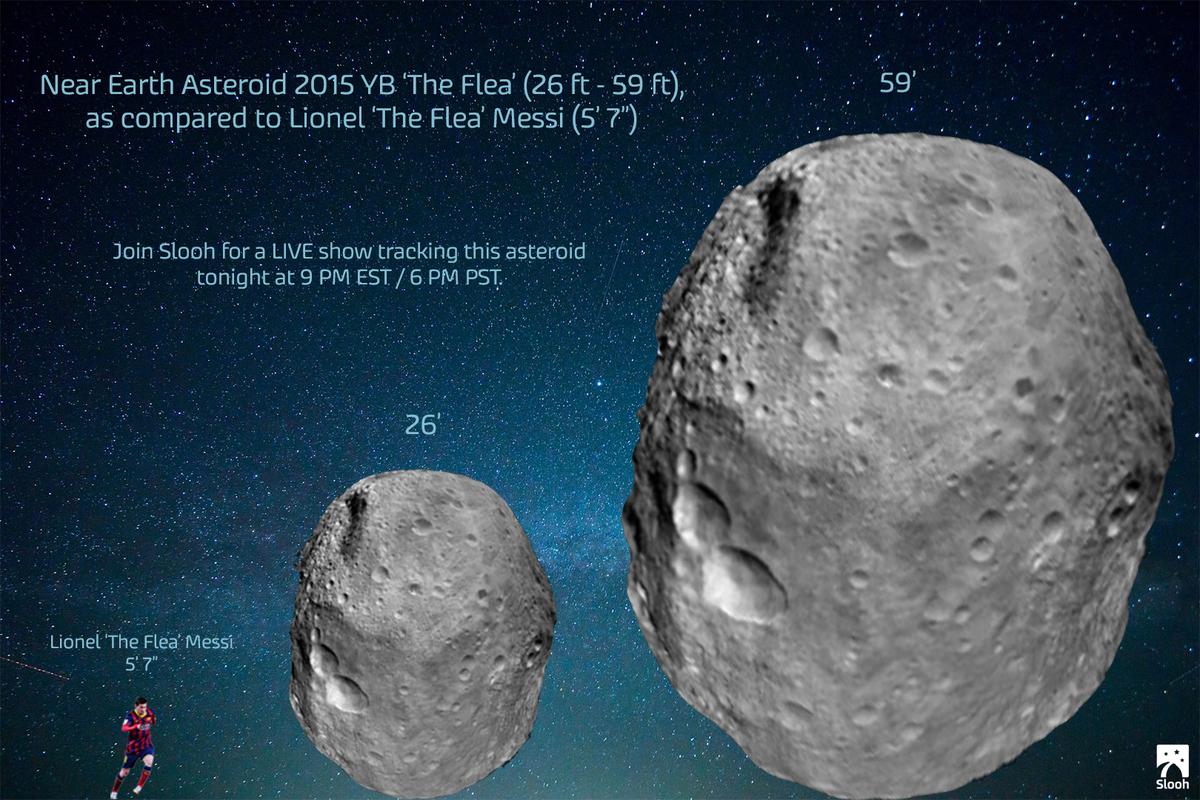 """Guarda l'Asteroide NEA 2015 YB """"La Pulce"""" passando vicino alla Terra"""