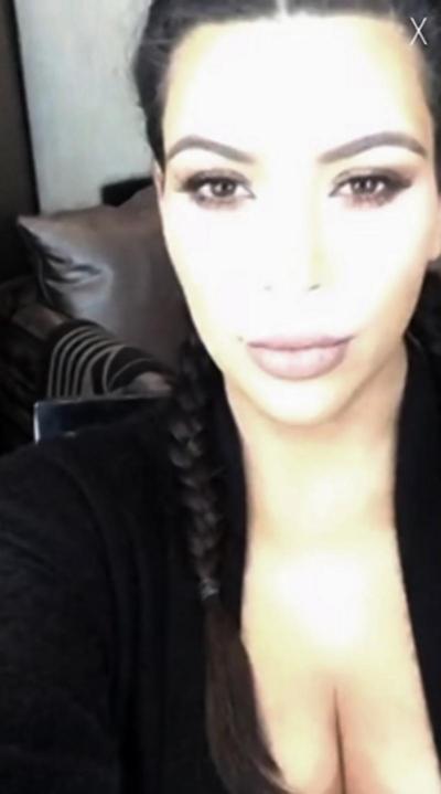 "Kim Kardashian Shows Off Her Boobs SAYING ""My Boobs Are Huuuuuuuuuge!!!"""