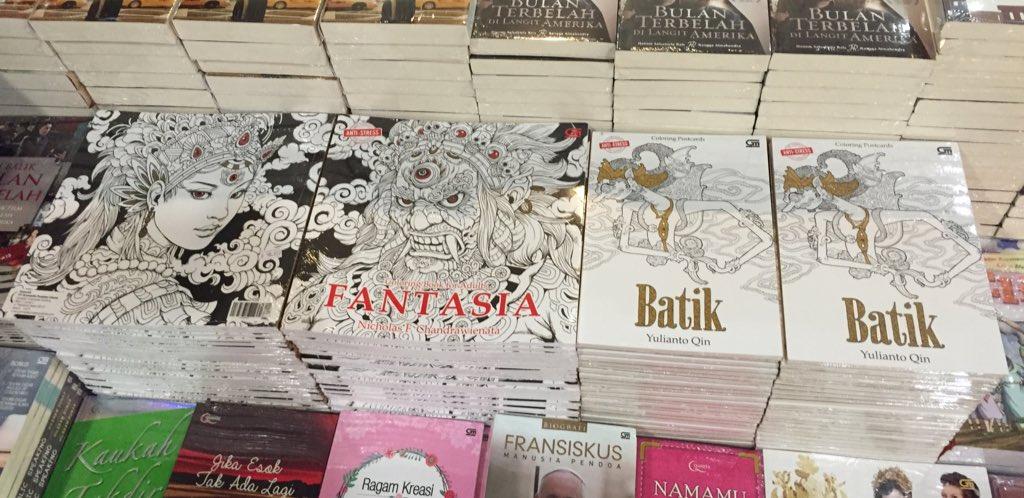 Dini P On Twitter Coloring Book Fantasia Dan Postcard Batik Gramedia Sdh Ada Gramediabooks Jabodetabek Tco RxvKKlOAmj