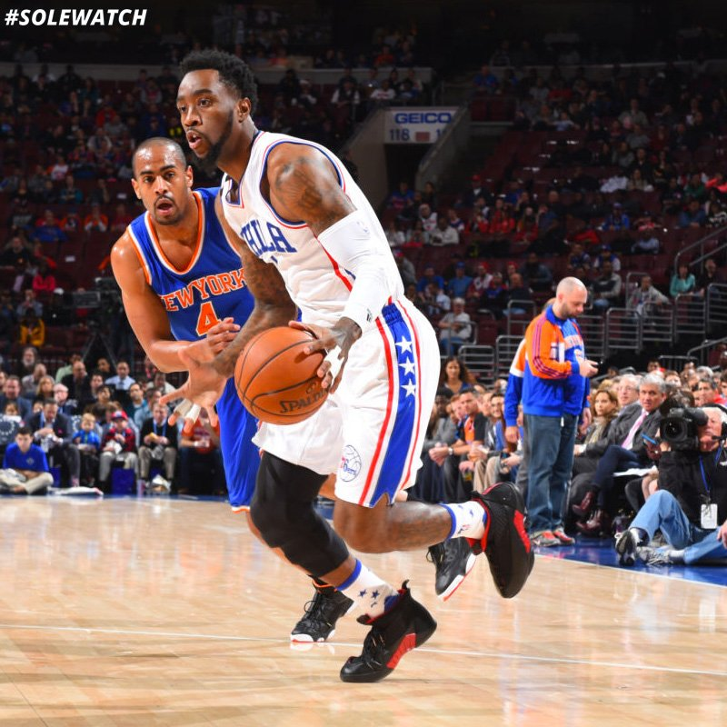 22323bc0cf00b2  SoleWatch   Sixers  TWroten LOE wearing the Air Jordan 15  CDP.pic.twitter.com MR5EDy7hOV