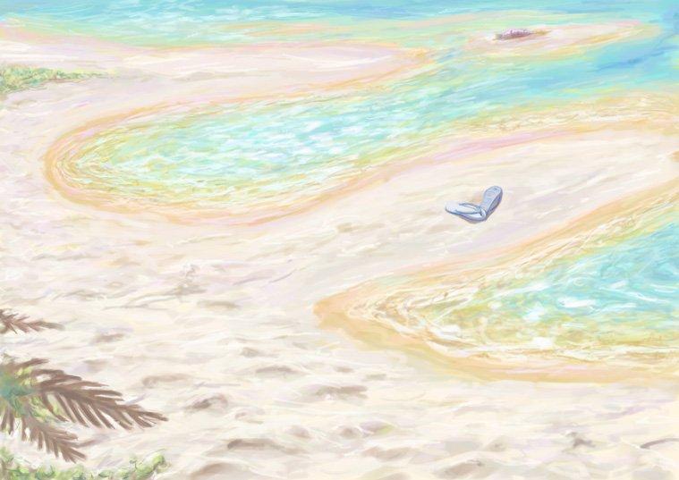 幻想的な夏のビーチ