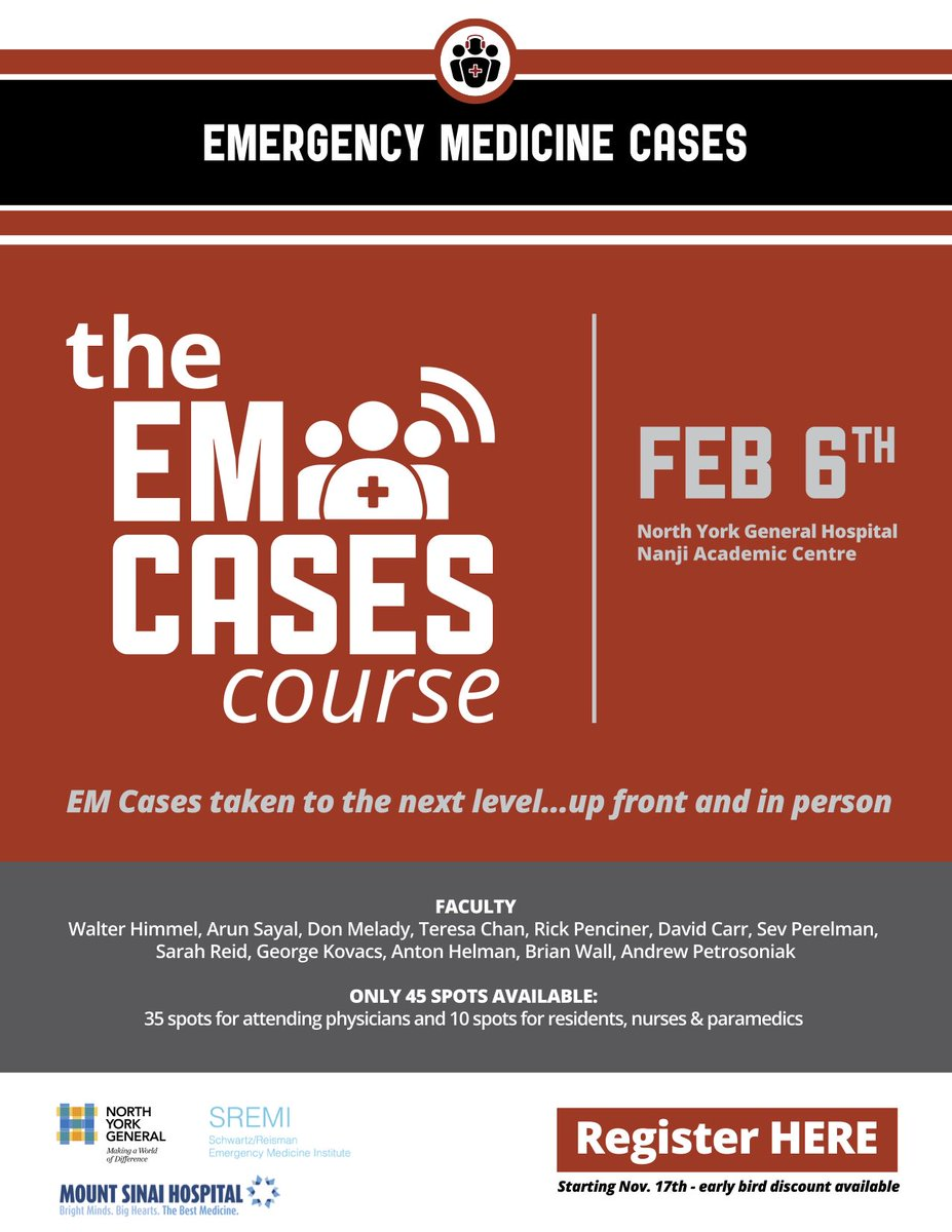 EM Cases Course on Twitter: