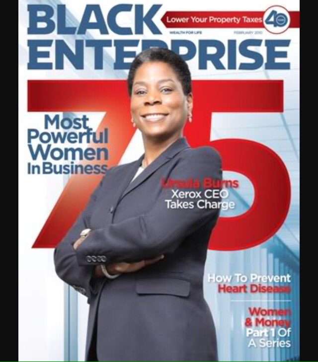 Answer to yesterday's #BETrivia Question: Ursula Burns was named CEO of @Xerox in 2009, and chairman in 2010. https://t.co/Zu7SCeHK0C