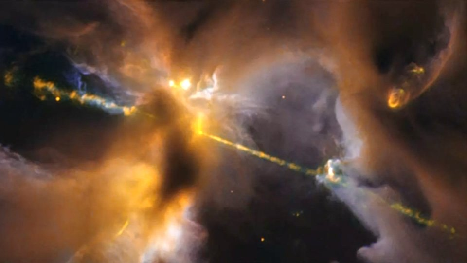 Hubble space telescope captures new double-bladed 'lightsaber' star: https://t.co/h7AkjmcUkv https://t.co/OK3qknxLMR