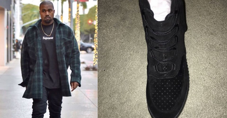 super popular 70ee1 3aa57 Kanye West Rocks Pair Strapless Black adidas Yeezy Boosts ...