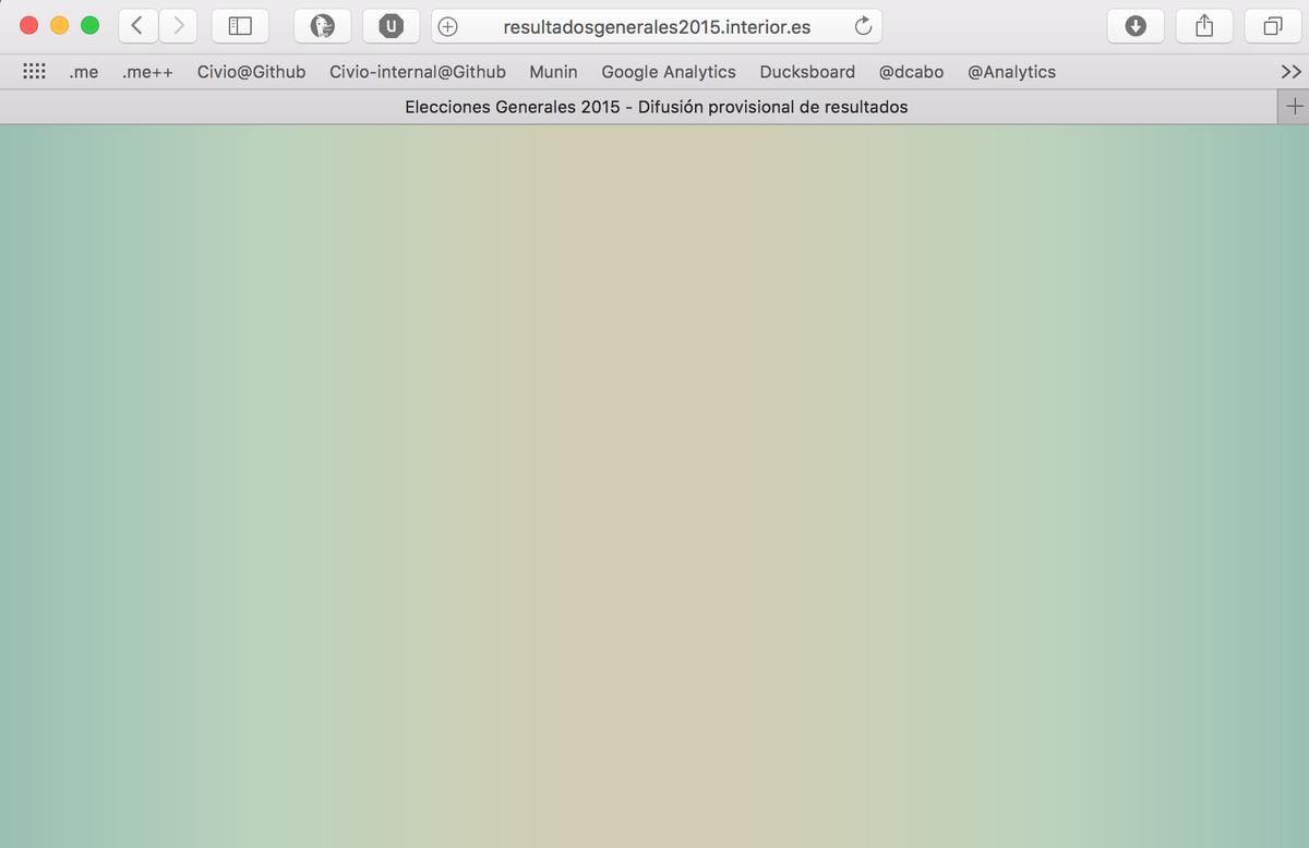 La web oficial de resultados electorales no funciona sin Javascript. La accesibilidad ya tal. https://t.co/CXwV8fH9yl