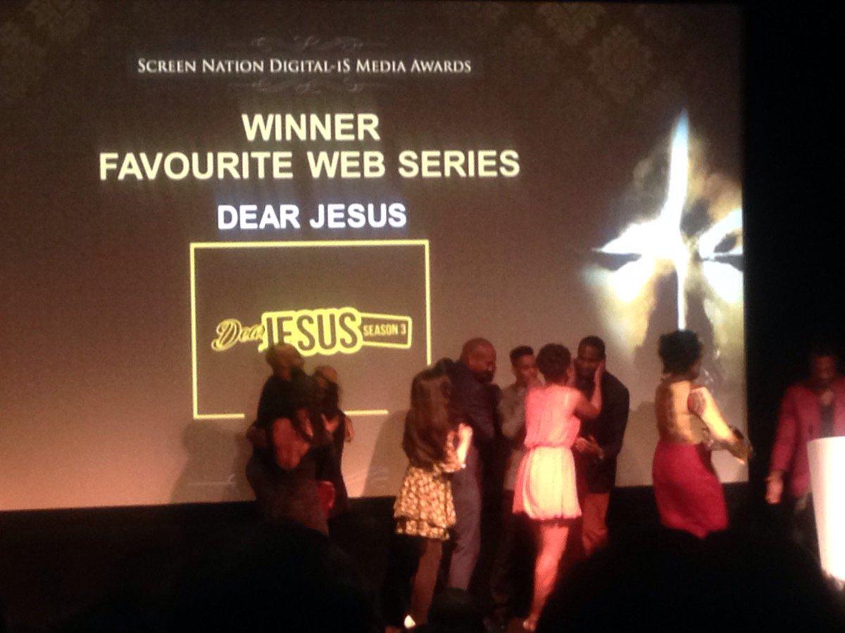 This year's Favorite Web Series winner is Dear Jesus @DearJesusTV, S3 - by @DanielleDash and @WNDRLDNFILMS https://t.co/IN3jVO0dl3