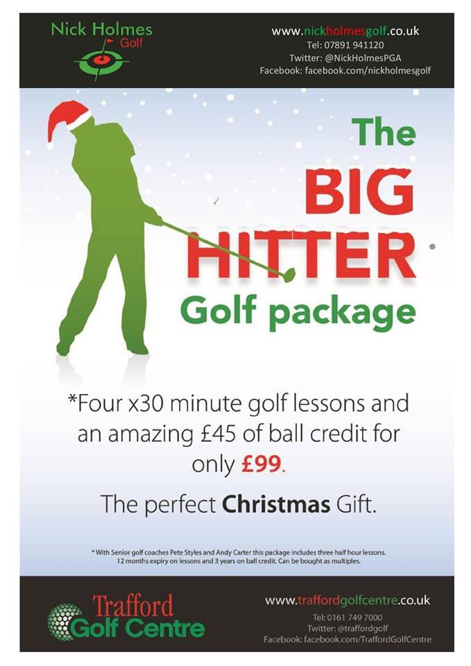 Christmas golf coaching package @TraffordGolf #thebighitter #gasp #flightscope #golflessons #LearnPracticePlay