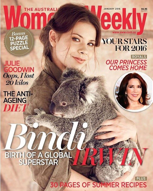 Our January issue is on sale NOW! Featuring the gorgeous @BindiIrwin! https://t.co/GnBSeMyyVG