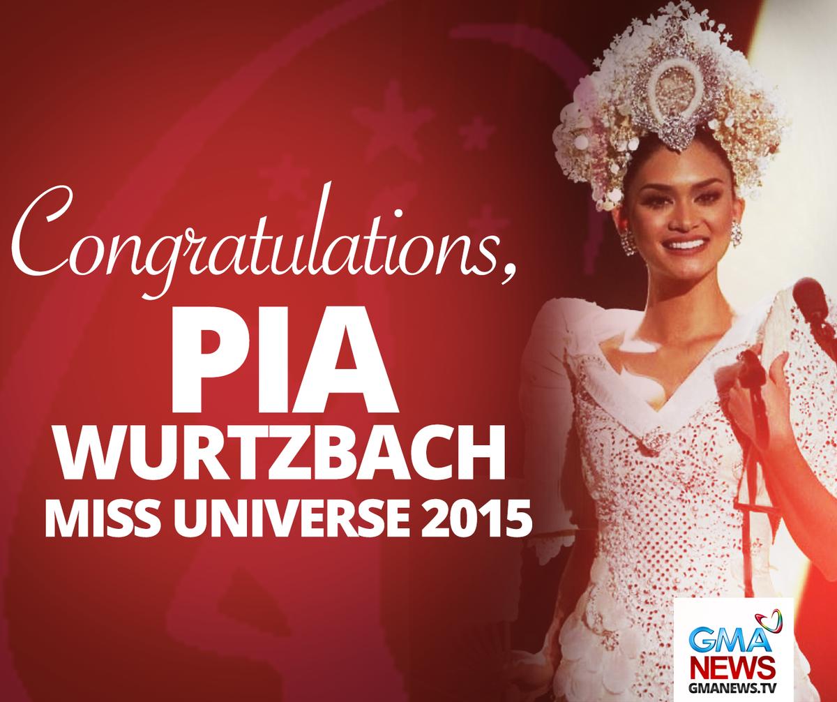 The Philippines' @PiaWurtzbach is #MissUniverse 2015! https://t.co/rjdh5MHia5 https://t.co/SGfRHdzjGR